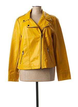 Veste simili cuir jaune ESCANDELLE pour femme