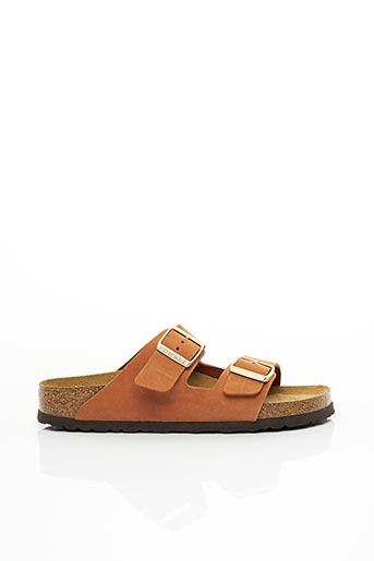 Sandales/Nu pieds orange BIRKENSTOCK pour homme