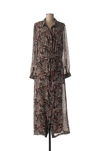 Robe longue marron FREEMAN T.PORTER pour femme