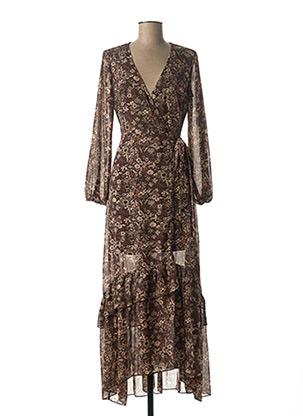 Robe longue marron MOLLY BRACKEN pour femme