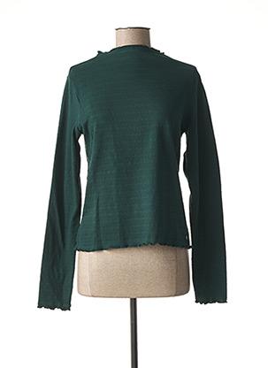 T-shirt manches longues vert GARCIA pour femme