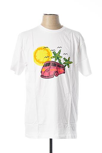 T-shirt manches courtes blanc UNICO pour homme