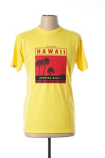 T-shirt manches courtes jaune UNICO pour homme