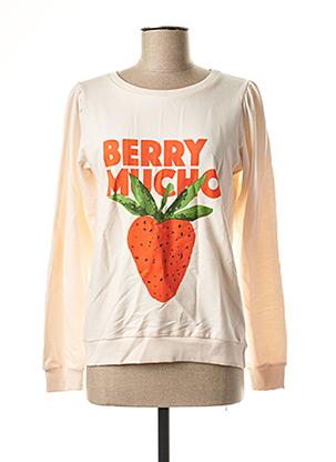 Sweat-shirt orange COMPAÑIA FANTASTICA pour femme
