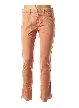 Jeans coupe slim orange BÔ-M pour femme