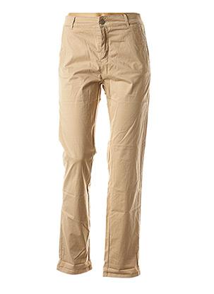 Pantalon casual beige ATELIER BOHÈME pour femme