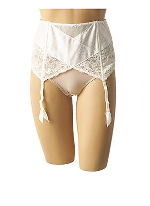 Guêpière/Porte-jarretelle beige AUBADE pour femme