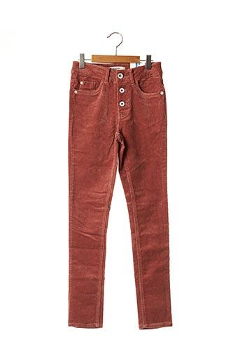 Pantalon casual orange GARCIA pour fille
