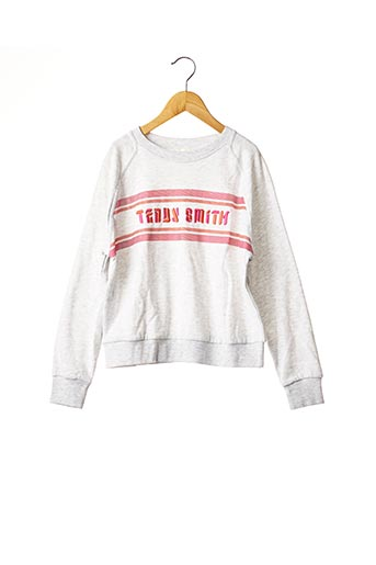 Sweat-shirt gris TEDDY SMITH pour fille