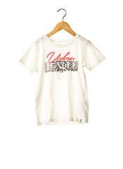 T-shirt manches courtes blanc GARCIA pour fille seconde vue