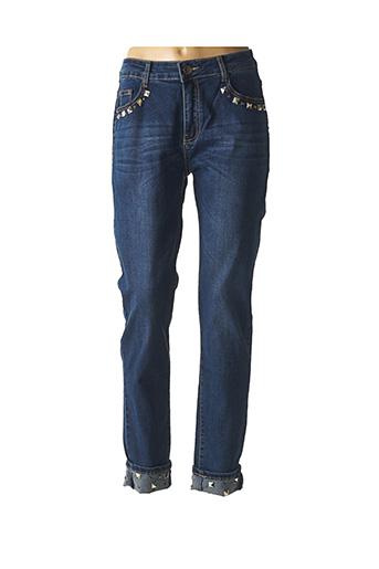 Jeans coupe droite bleu B.S JEANS pour femme