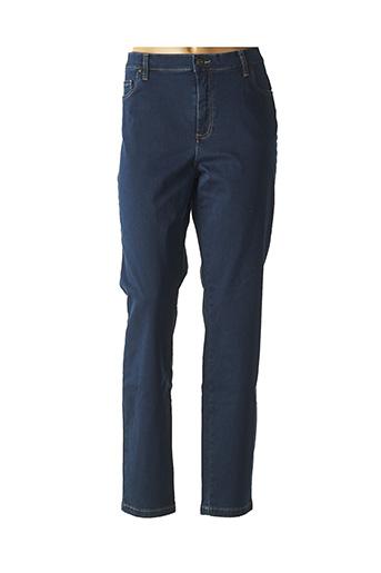 Jeans coupe slim bleu LCDN pour femme