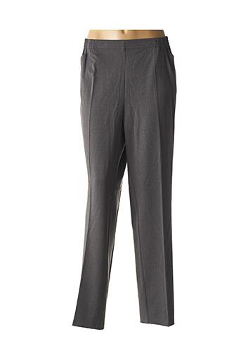Pantalon casual gris ADELINA BY SCHEITER pour femme