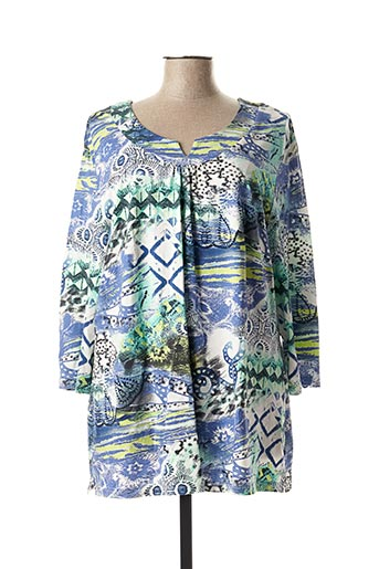 T-shirt manches longues bleu ADELINA BY SCHEITER pour femme