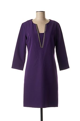 Robe mi-longue violet EDAS pour femme