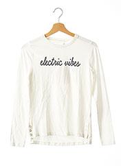 T-shirt manches longues beige NAME IT pour fille seconde vue