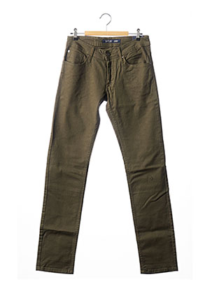 Jeans coupe slim vert TIFFOSI pour homme