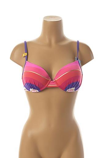 Haut de maillot de bain rose CHERRY BEACH pour femme