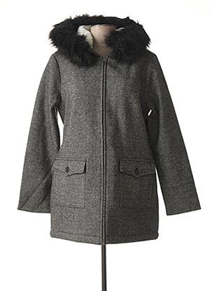 Manteau court gris C'EST BEAU LA VIE pour femme