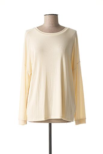 T-shirt manches longues beige YAYA pour femme