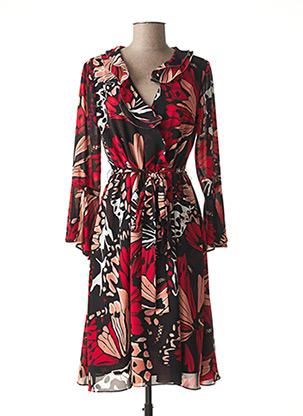 Robe mi-longue rouge FRACOMINA pour femme
