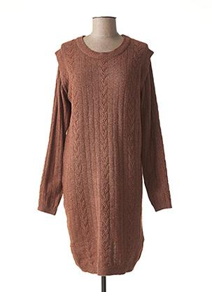 Robe pull marron ICHI pour femme
