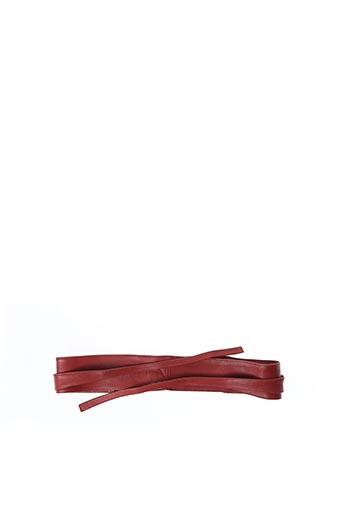 Ceinture rouge LA FEE MARABOUTEE pour femme