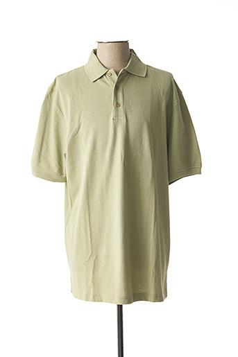 Polo manches courtes vert ERMANO pour femme