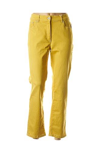 Jeans coupe droite jaune CMK pour femme