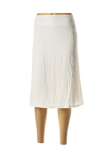 Jupe mi-longue blanc JEAN DELFIN pour femme