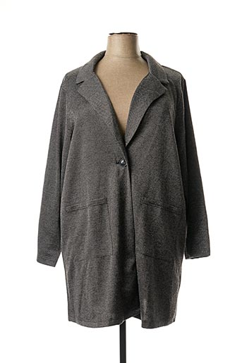 Manteau long gris CISO pour femme