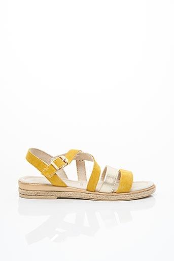 Sandales/Nu pieds jaune MARCO TOZZI pour femme