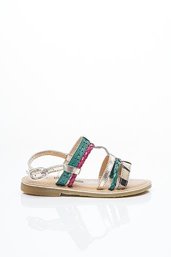 Sandales/Nu pieds vert LILYBELLULE pour fille