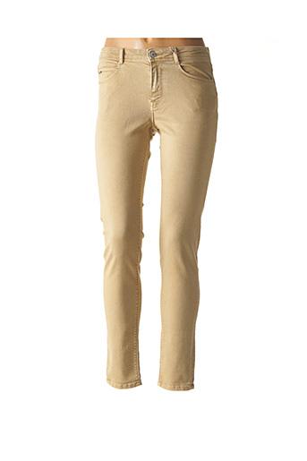 Jeans coupe slim beige KANOPE pour femme