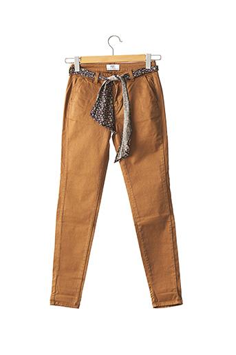 Pantalon casual beige LE TEMPS DES CERISES pour femme