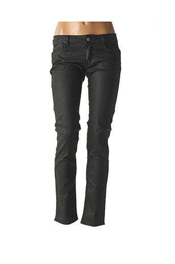 Pantalon casual noir LE TEMPS DES CERISES pour femme