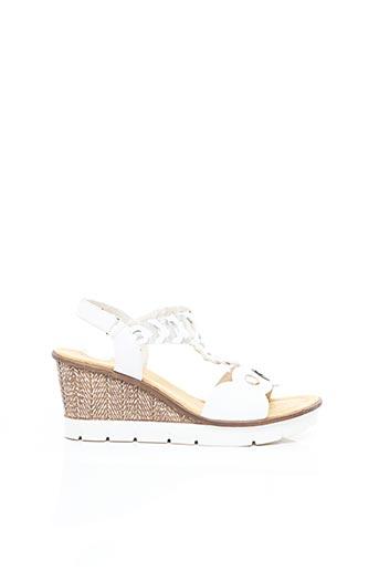 Sandales/Nu pieds blanc RIEKER pour femme
