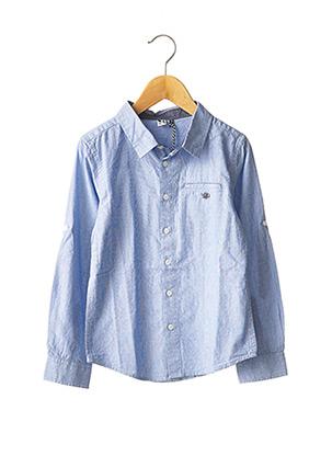 Chemise manches longues bleu 3 POMMES pour garçon