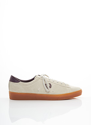 Baskets beige FRED PERRY pour homme