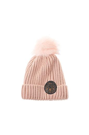 Bonnet rose IKKS pour fille