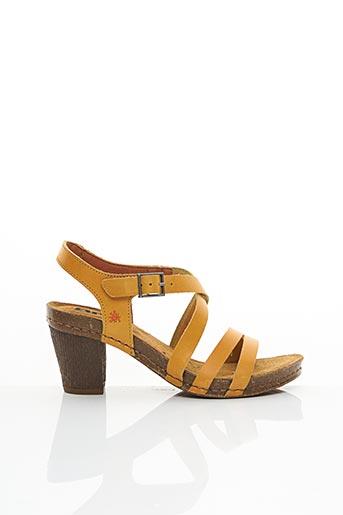 Sandales/Nu pieds jaune ART pour femme
