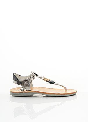 Sandales/Nu pieds gris MINIBEL pour fille