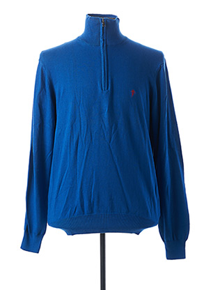 Pull col cheminée bleu RUCKFIELD pour homme