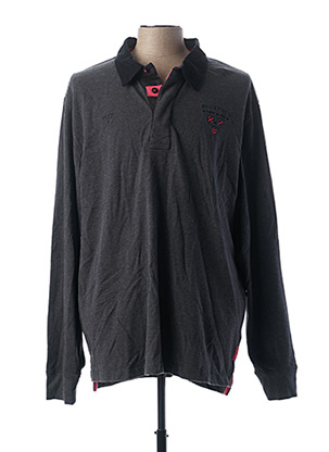 Polo manches longues gris RUCKFIELD pour homme