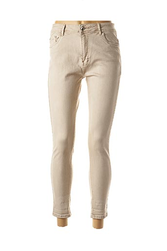 Pantalon 7/8 beige AD'ORO pour femme