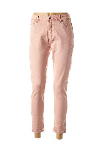 Pantalon 7/8 rose AD'ORO pour femme