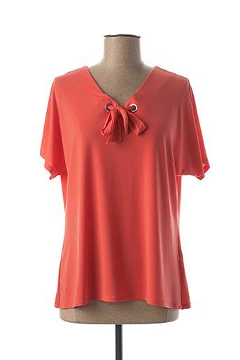 T-shirt manches courtes orange A PARIS pour femme