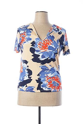 T-shirt manches courtes bleu ESCORPION pour femme