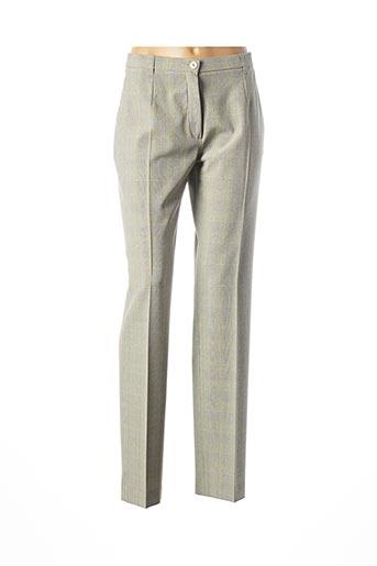 Pantalon casual vert BRUNO SAINT HILAIRE pour femme