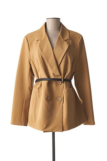 Veste chic / Blazer marron CAPUCINE MODA pour femme
